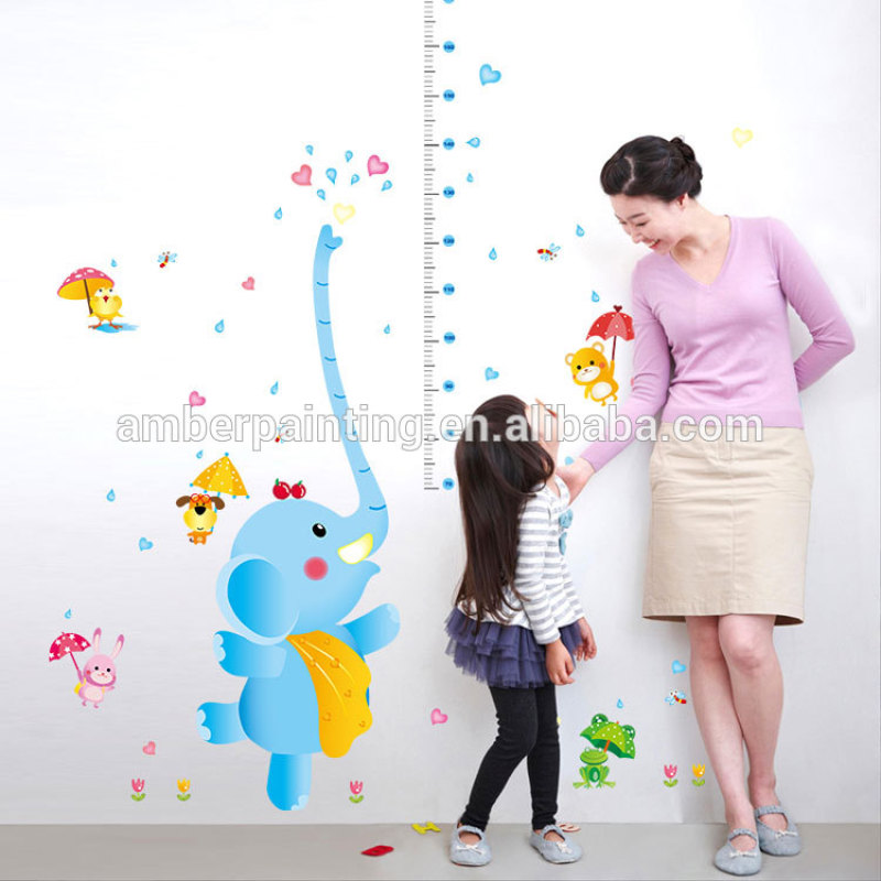 3d rabbit happy elephant wall decals DIY decorative for kids room