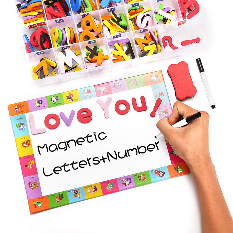 Customized wholesale magnetic multicolor letter toy set painting whiteboard
