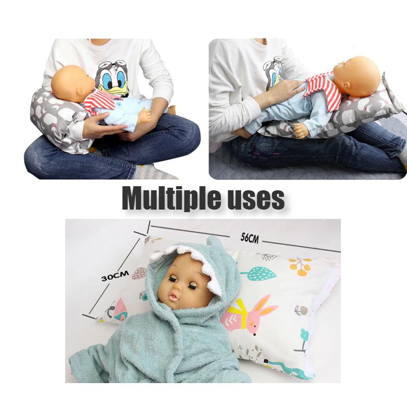 Multifunctional 100% cotton fabric baby breastfeeding arm nursing pillow