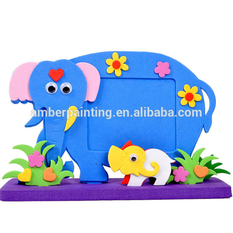 custom animal shape blank foam photo picture frames to decorate
