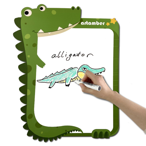 Custom 2020 new cartoon animal kids and child magnetic whiteboard for wall sticker kids of unicorn crocodile lion hippo koala