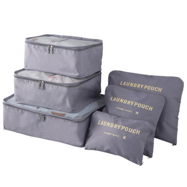 6pcs set waterproof travel luggage organizer cubes