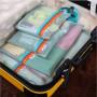 Mesh luggage travel organizer set