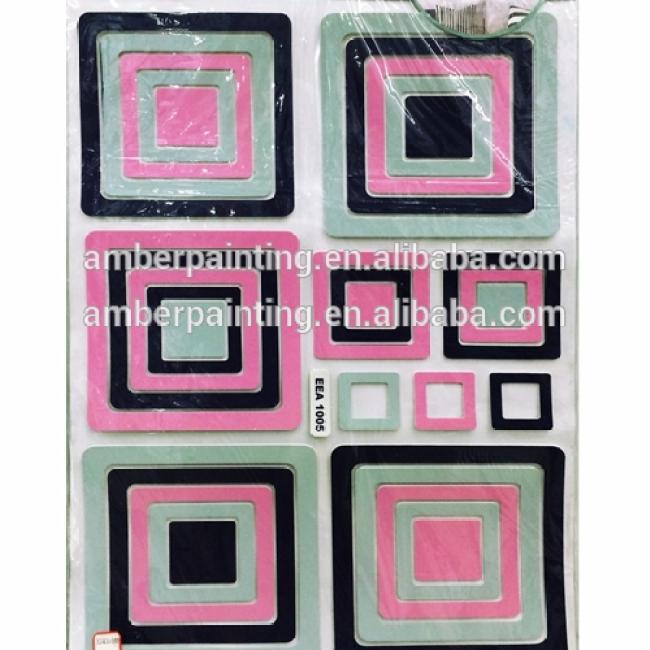 2016 New coming custom design 3d eva photo frame foam sticker