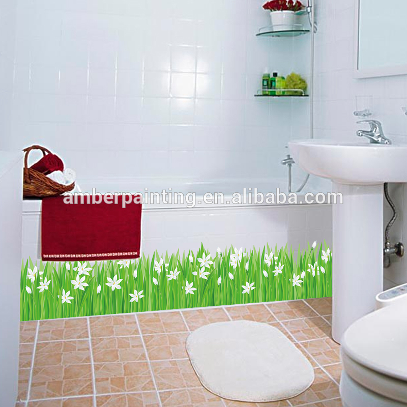 large decorative vinyl removable wall decals green grass