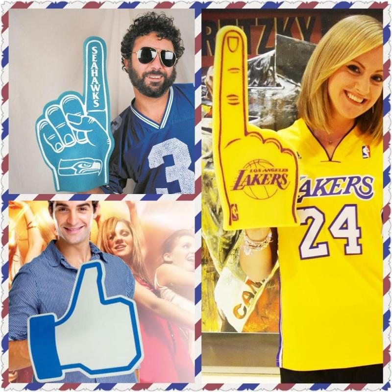Color  eva cheering Palm  Printable diy custom foam  Fingers toy For Sports