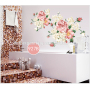 family remover wall sticker beautiful flowers wall stickers