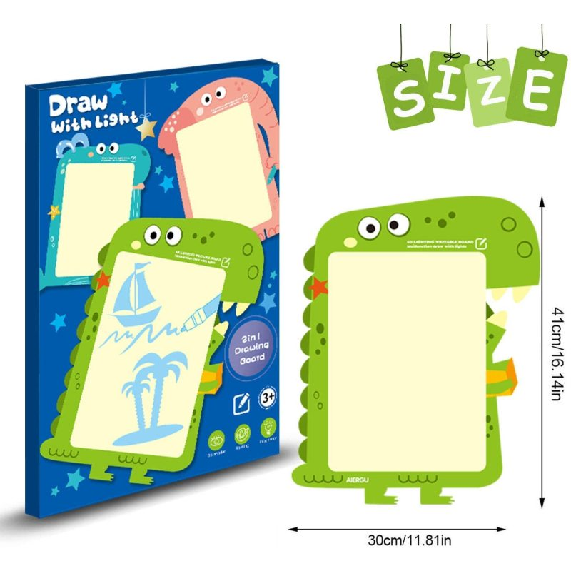 Drawing board for kids with lights   drawing board toy     drawing board book