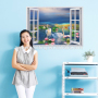 ocean themed home office wall decals PVC wall sticker art vinyl