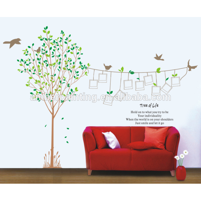 Family or nursery big wall stickers tree