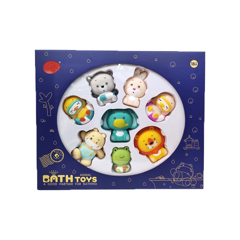 Custom wholesale animal bath  squeaky bath toy  beach toys for kids