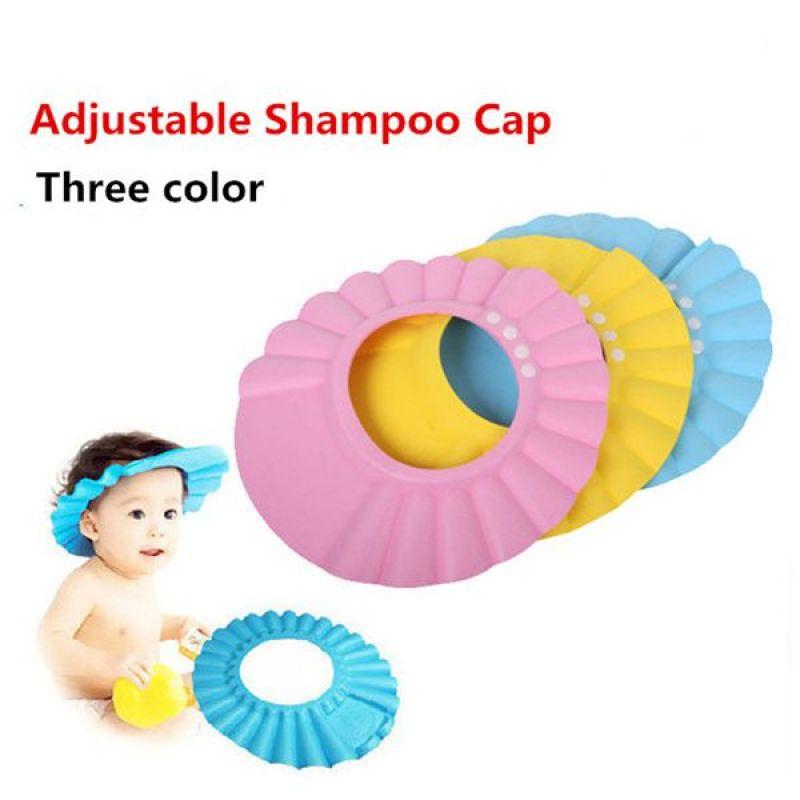 Hot selling EVA safety baby shower shampoo cap baby bath cap