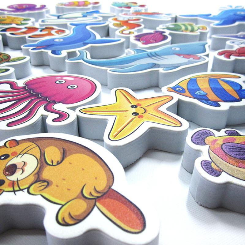 ODM educational EVA foam customized shaped cheap educational toys for kids   eva kids bath toy