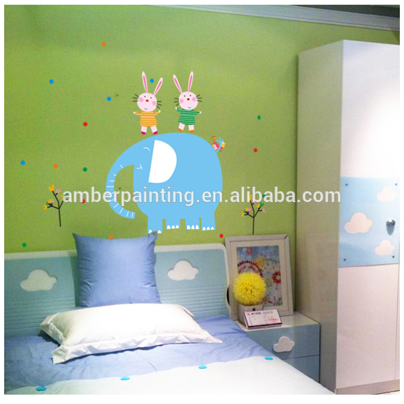 blue elephants wall stickers decal wall sticker for children's bedroom decoration