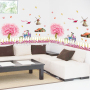 kids vinyl rooms wall decals trees for drawing room