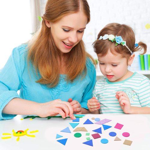 Alphabet letter and number EVA foam sticker for kids