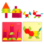 2020 Tangram puzzles wooden kids puzzles educational toys tangram shape in china