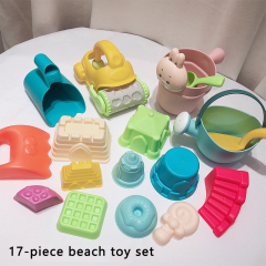 Baby playing in water toys bath toy scoop storage  basket baby bath toys bath scoop toy