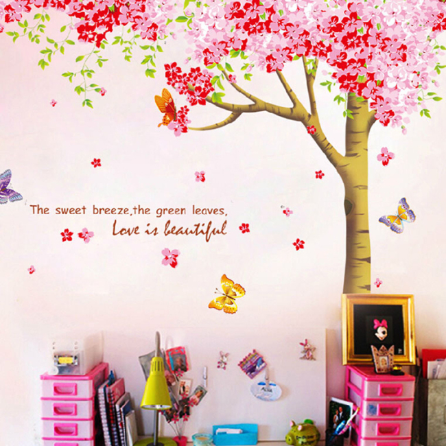 Family wall sticker tree nature decal
