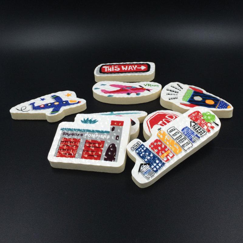 ODM EVA foam customized shaped educational bath toy for kids A313