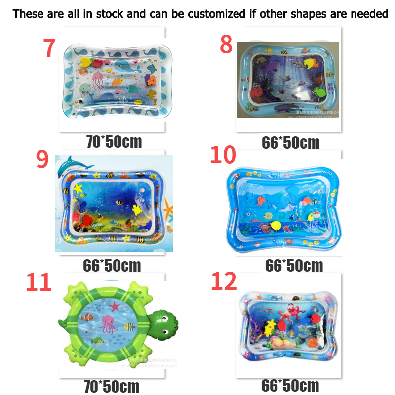 Kids floating baby tummy time water play mat floating inflatable baby water mat