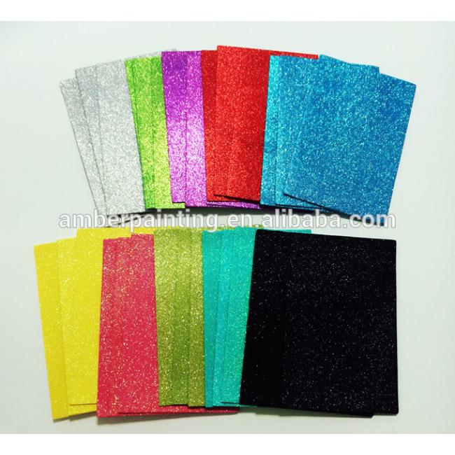 Self adhesive sticky back craft eva glitter foam sheet
