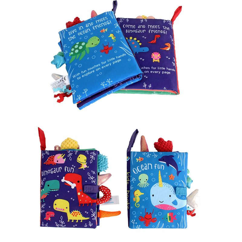 8 pages baby cloth book set 2020 new soft cloth books for babies in stock ready to ship