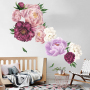 2020 hot sale wholesale PVC decorative floral wall stickers decals