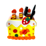 DIY EVA cake shaped pen container and pencil holder for kids