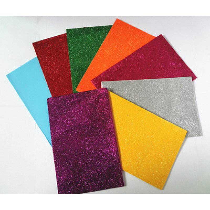 A4 size foam craft peel and stick eva glitter foam sheet