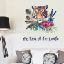 Cheap custom factory durable kid wall decals tigers kids quotes