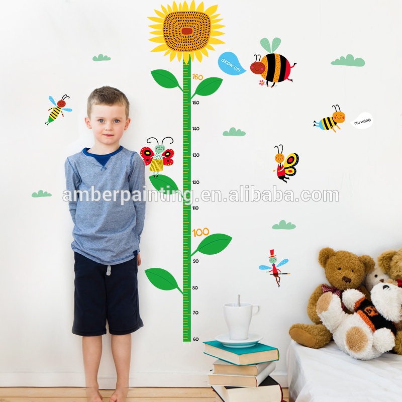 bumble bee sunflower wall decals quotes bedroom height growth chart