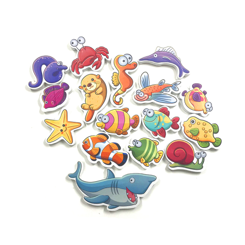 Baby educational EVA foam baby bath toy puzzle  dolphin bath toy