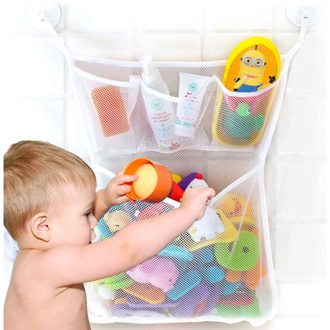 Hot sale baby bath toy mesh storage bag organizer