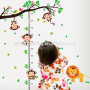 kid's room lovely wall decals lion of children waterproof wall sticker