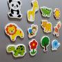 Kid animal learning EVA toy 3d fridge magnet foam educational learning toys fridge magnet animals