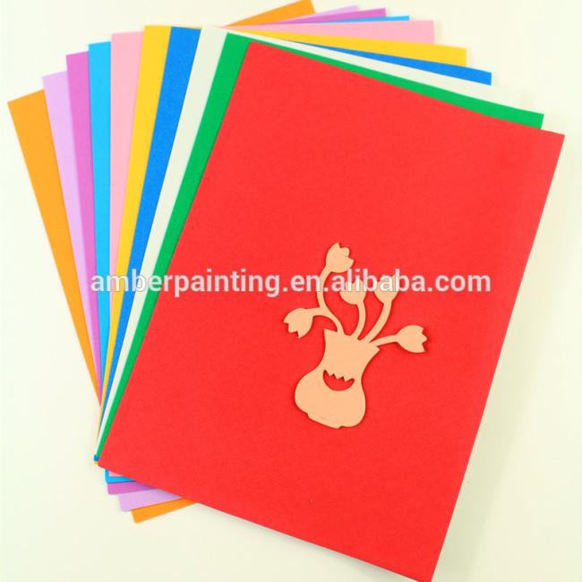 Kids crafts colored adhesive rubber eva foam sheet