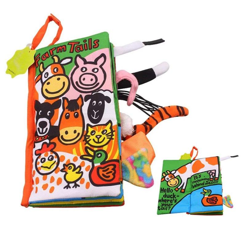 Hot sale washable fabric baby soft cloth book A313