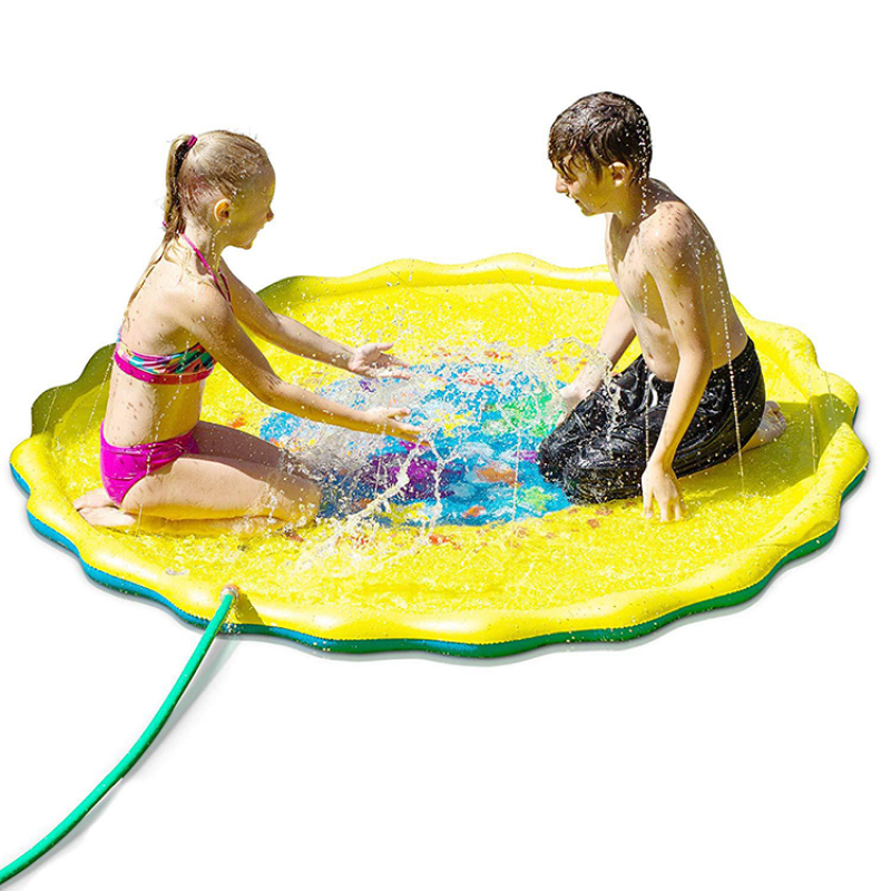 inflatable sprinkle and splash water play mat for toddler