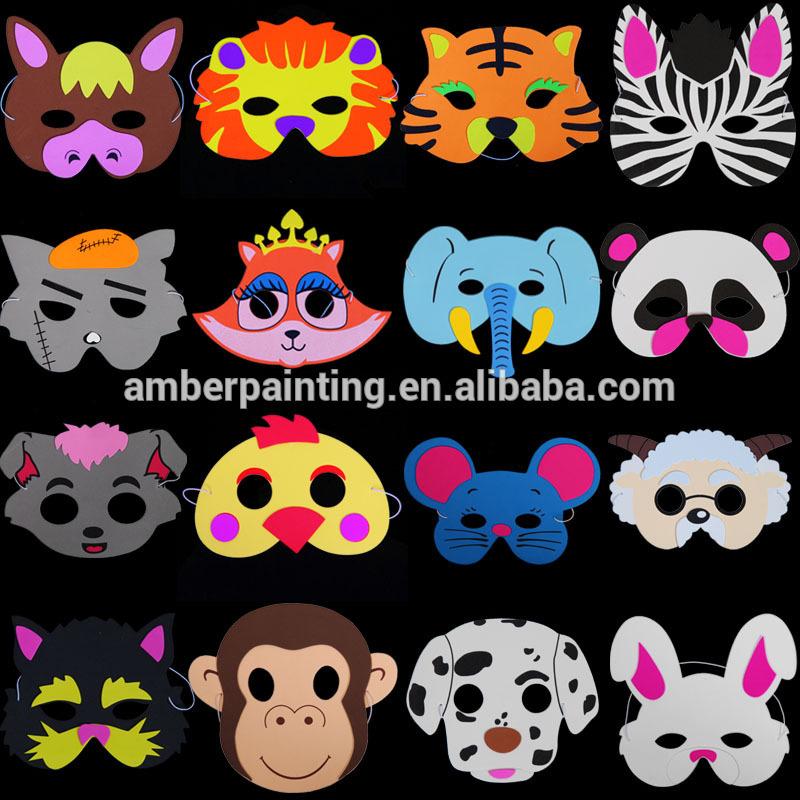 Kids new design eva rabbit tiger mask for Christmas