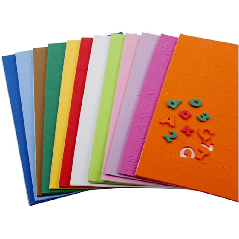 Custom design educational number letter eva foam sticker sheet