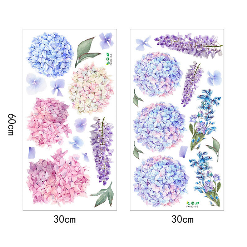 Hot sale large floral wall stickers art wall decal for living room
