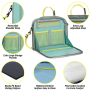 Car Back Seat Organizer for Kids Booster Seat Travel Hold Pad with Strap