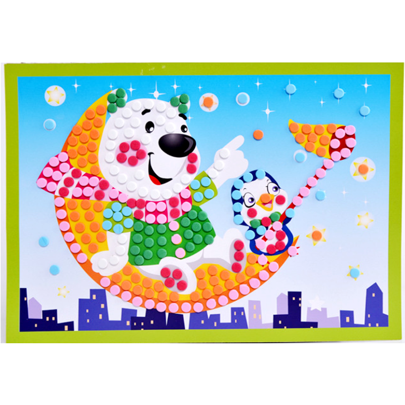 Non toxic best selling kids educational toys eva mosaic sticker