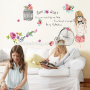birds cage wall decals girl with camera for baby room
