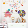 girl love wall decals the cartoon Shy little elephants pink