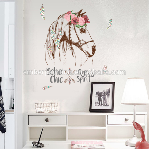 custom creative warm home baby room horse quote wall decals