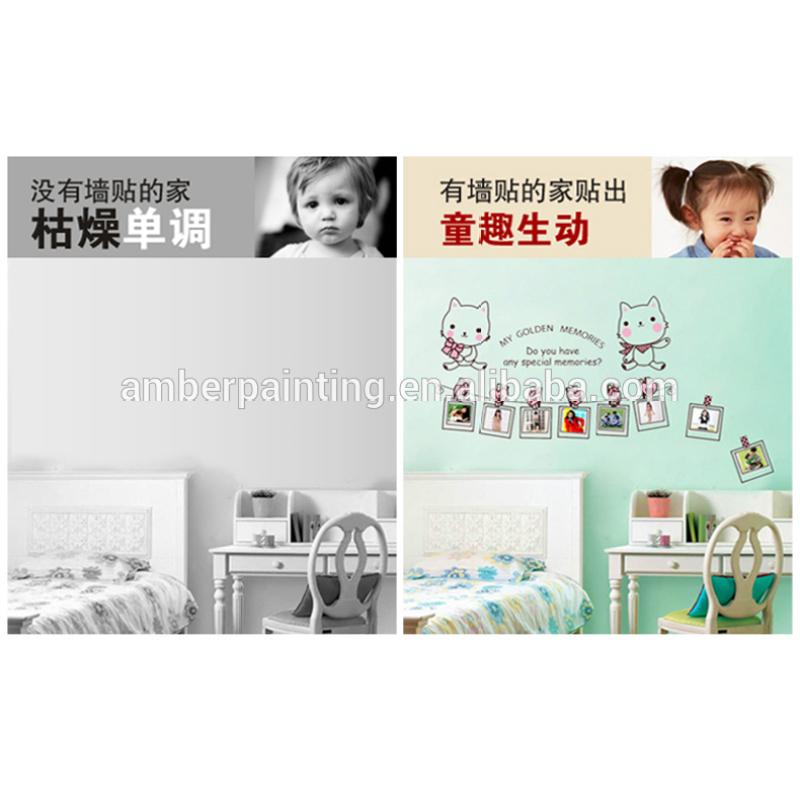 kids nursery school or family cat wall sticker decoration big white board wall sticker