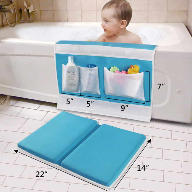 Cheap safety comfortable folding baby bath kneeling pad