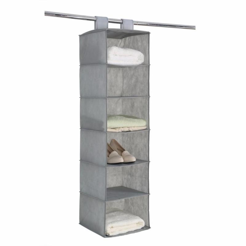 Hanging foldable fabric closet organizer